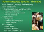 macroinvertebrate sampling the basics1