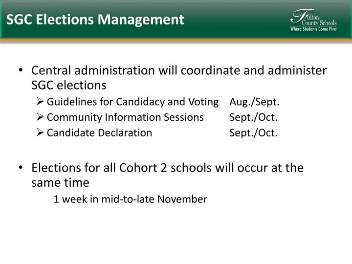 SGC Elections Management