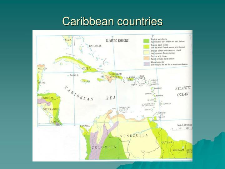 Caribbean countries