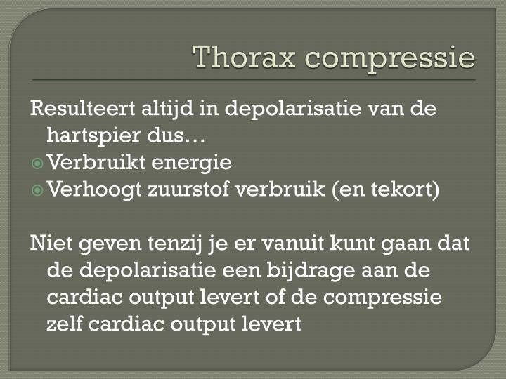 Thorax compressie