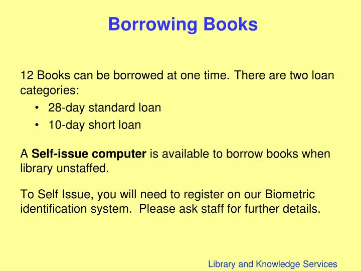 Borrowing Books