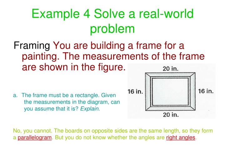 Example 4 Solve a real-world problem