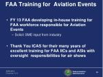 faa training for aviation events