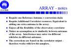 array notes