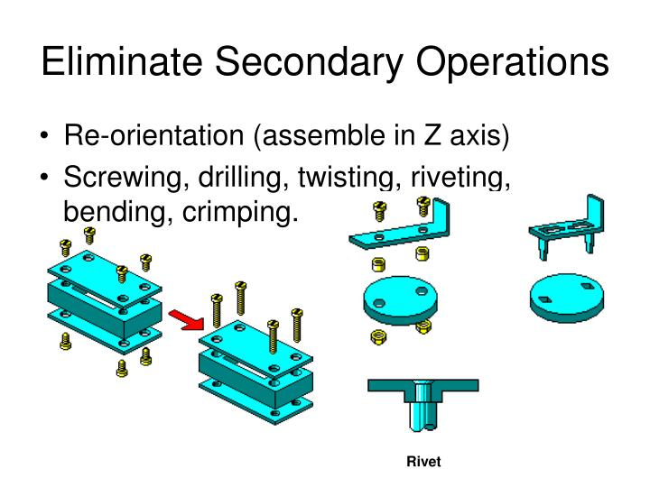 Eliminate Secondary Operations