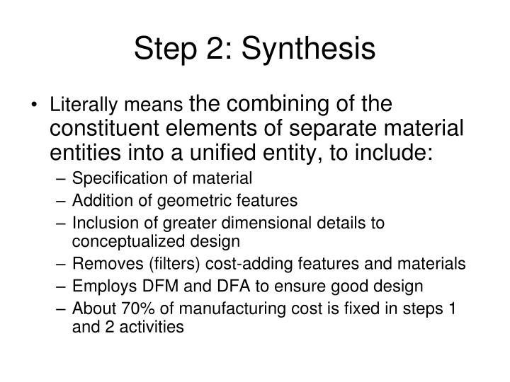 Step 2: Synthesis