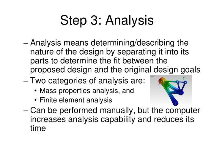 Step 3: Analysis