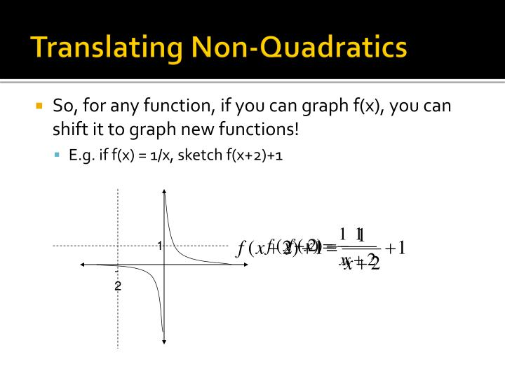 Translating Non-Quadratics