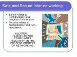 safe and secure inter networking