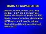 mark xii capabilities