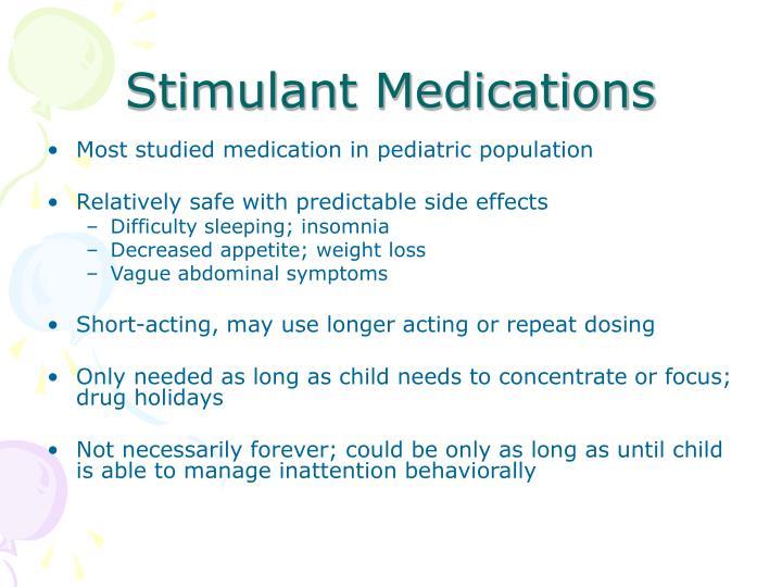 Stimulant Medications