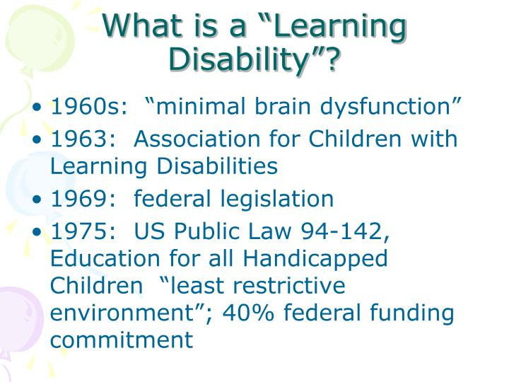 """What is a """"Learning Disability""""?"""
