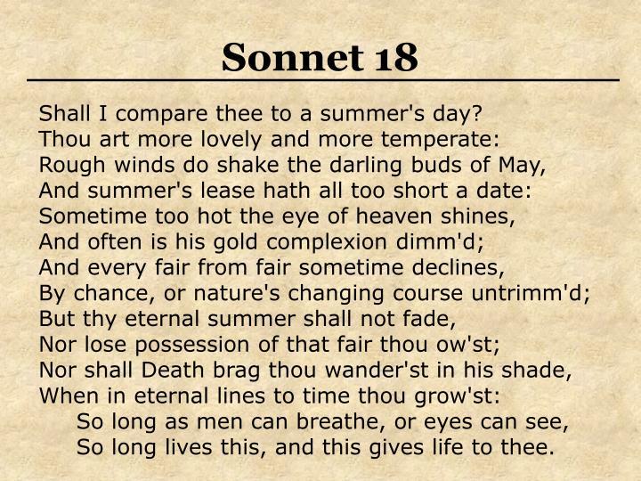Sonnet 18