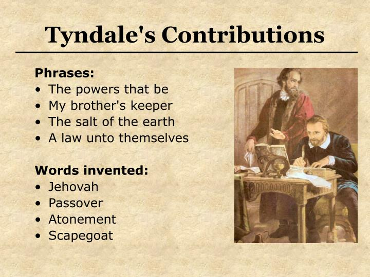 Tyndale's Contributions