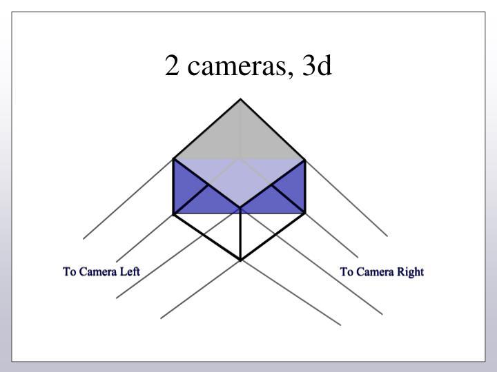 2 cameras, 3d