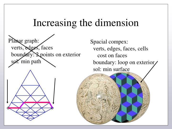 Increasing the dimension