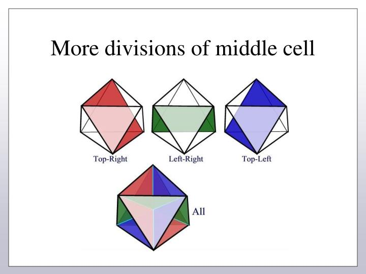 More divisions of middle cell