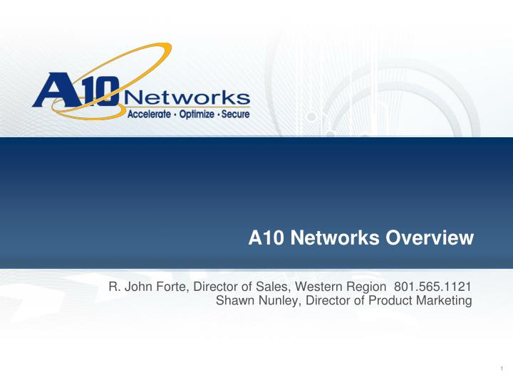 A10 networks overview