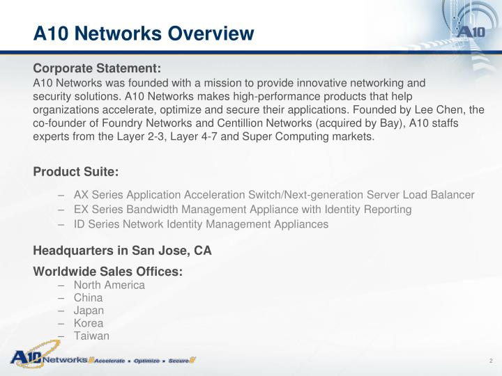 A10 networks overview1