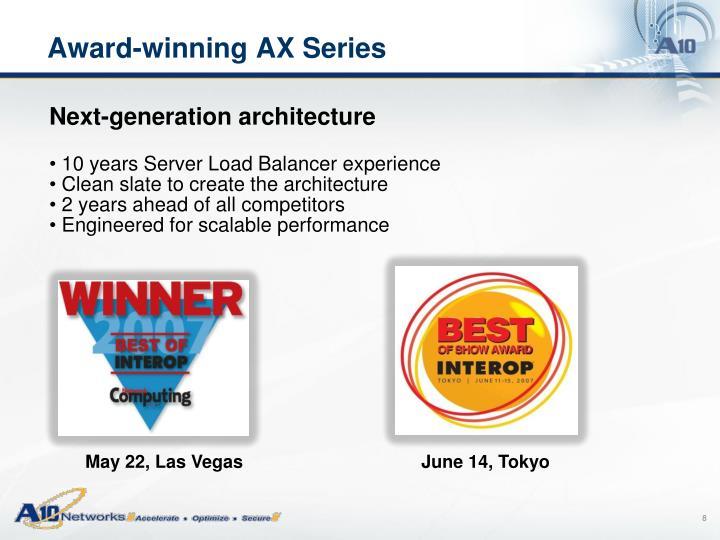 Award-winning AX Series