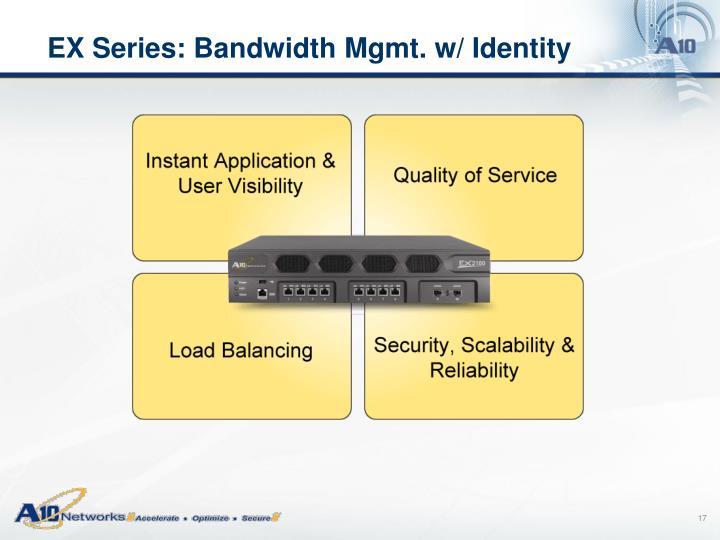 EX Series: Bandwidth Mgmt. w/ Identity