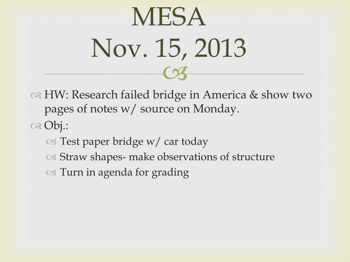 Mesa nov 15 2013