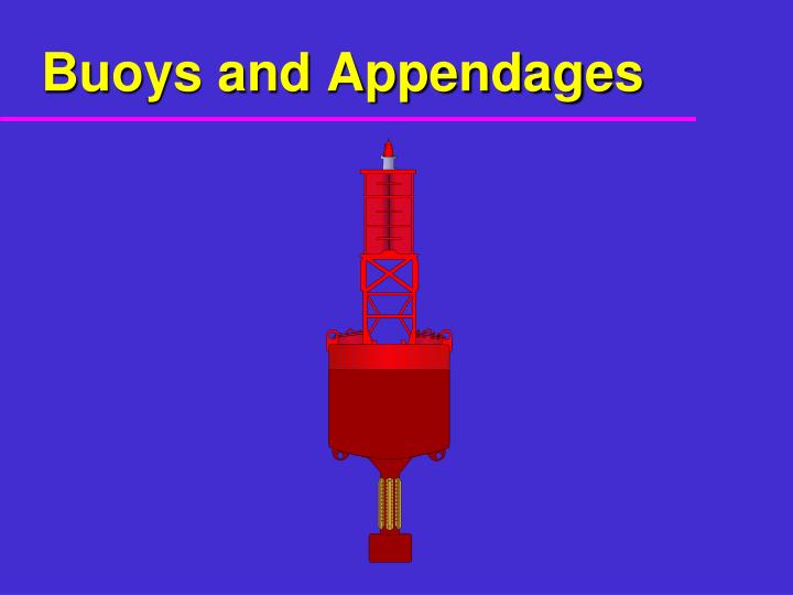 Buoys and appendages