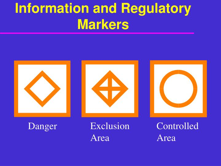 Information and Regulatory Markers
