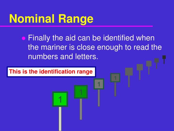 Nominal Range