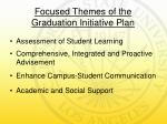 focused themes of the graduation initiative plan