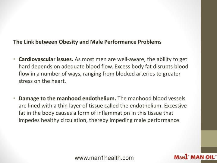 The Link between Obesity and Male Performance Problems