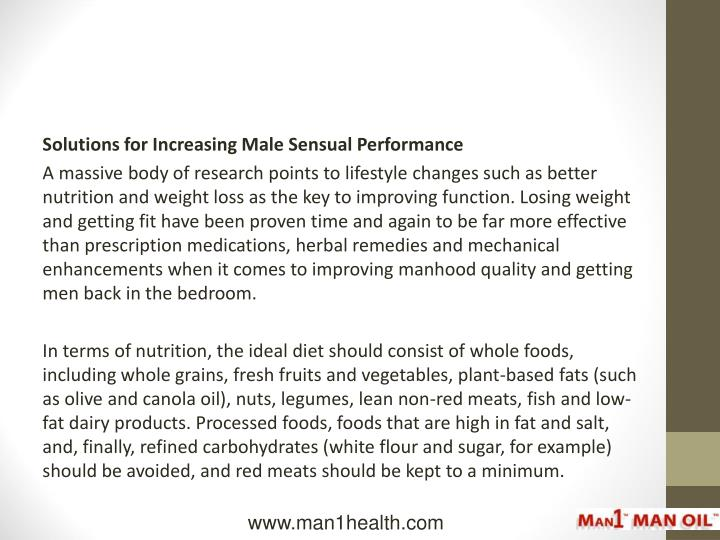 Solutions for Increasing Male Sensual Performance