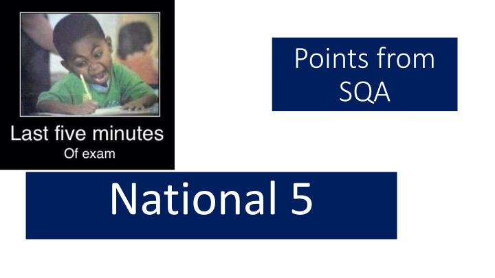 Points from sqa