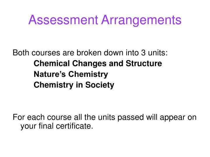 Assessment arrangements