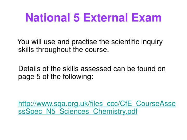 National 5 External Exam