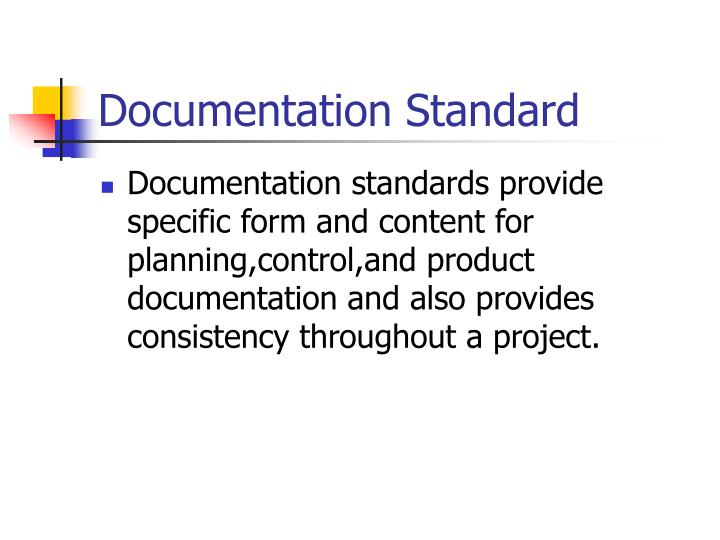 Documentation Standard