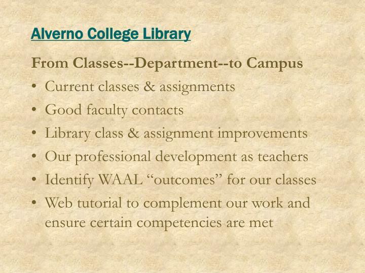 Alverno College Library