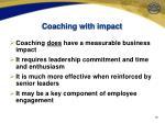 coaching with impact