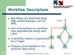 workflow descriptions