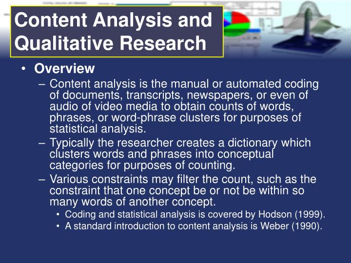 Content Analysis and