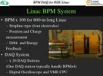 linac bpm system