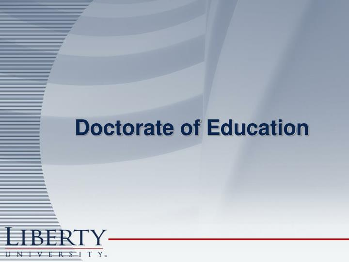 Doctorate of Education