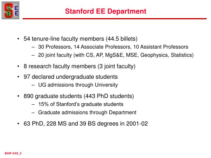 Stanford ee department