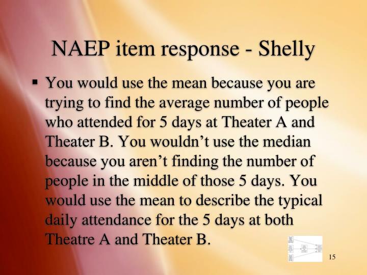 NAEP item response - Shelly