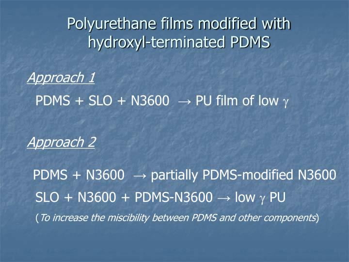 Polyurethane films modified with hydroxyl-terminated PDMS