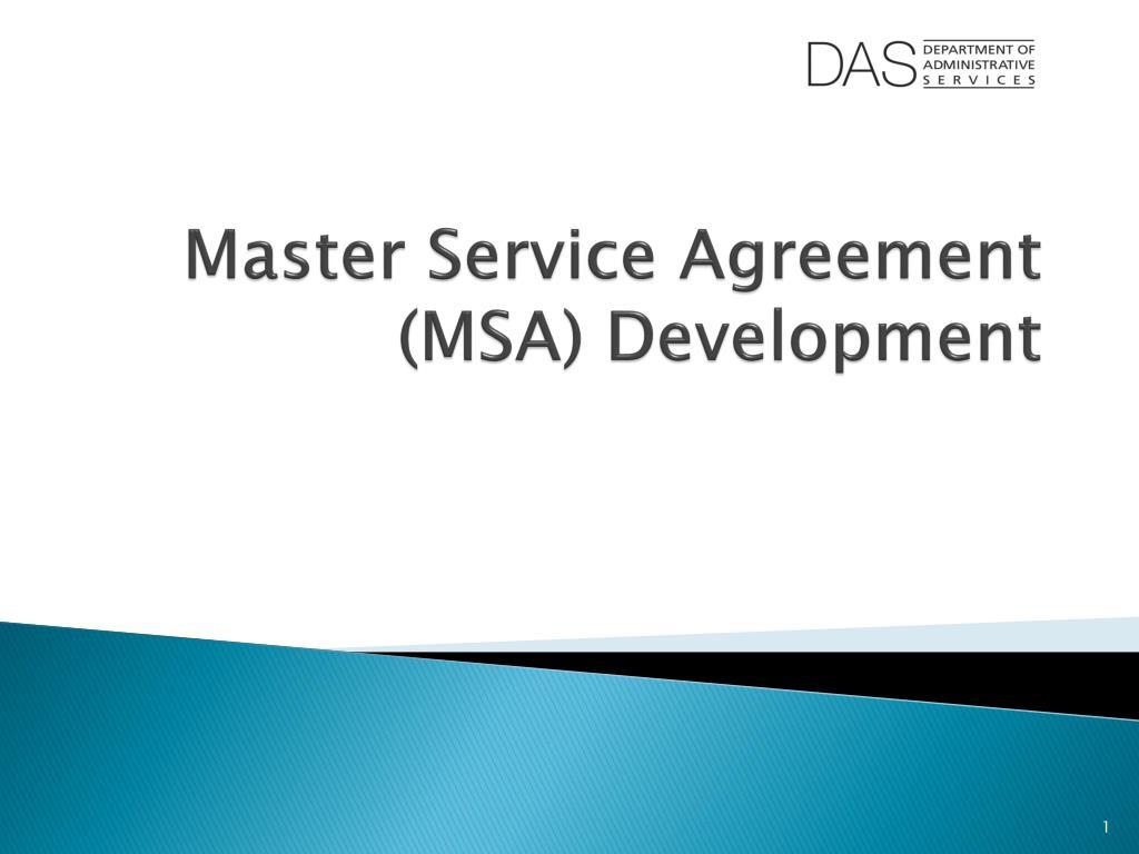Ppt Master Service Agreement Msa Development Powerpoint