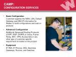 camp configuration services