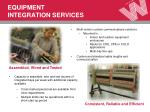 equipment integration services