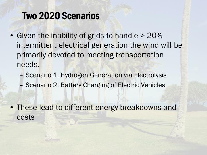 Two 2020 Scenarios