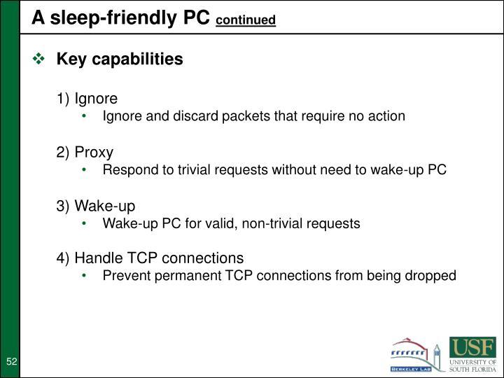A sleep-friendly PC